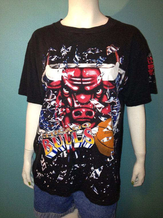 fe59e7237de Vintage NBA Chicago Bulls Tshirt // Ready to Ship on Etsy, $15.00 ...