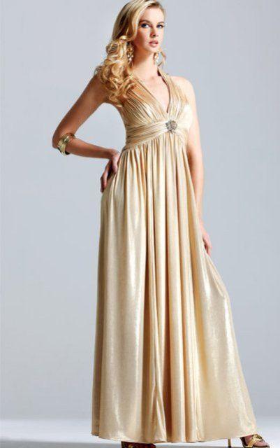 Vestidos dorados para una boda
