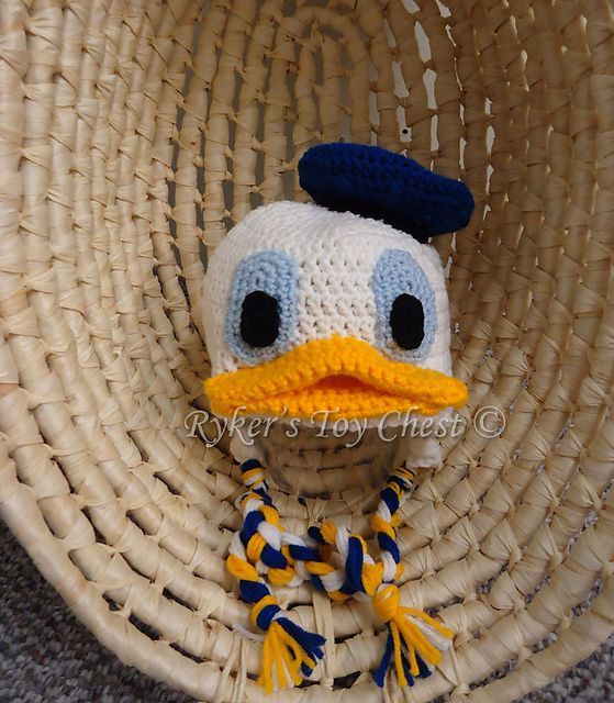 Ravelry Donald Duck Hat Pattern By Rykers Toy Chest Baby Victor