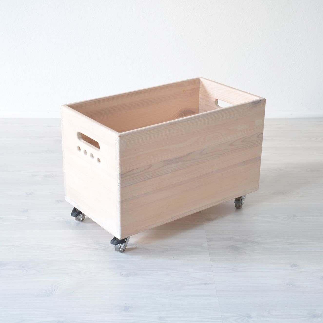 Wooden Toy Box Storage On Wheels