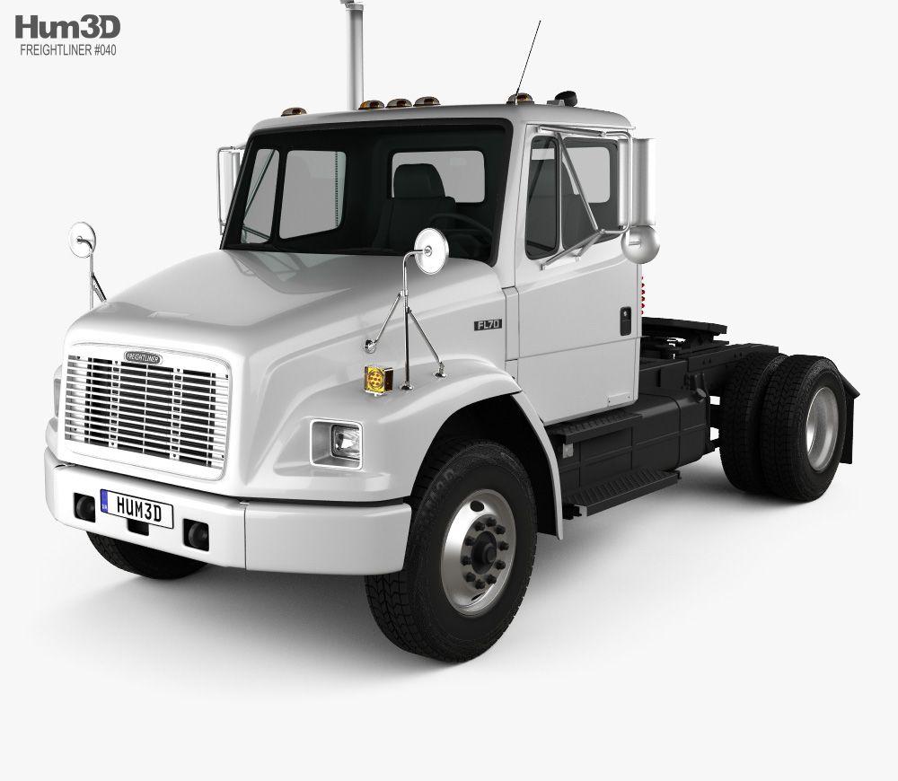 3d Model Of Freightliner Fl70 Tractor Truck 2003 Freightliner Trucks Freightliner Trucks