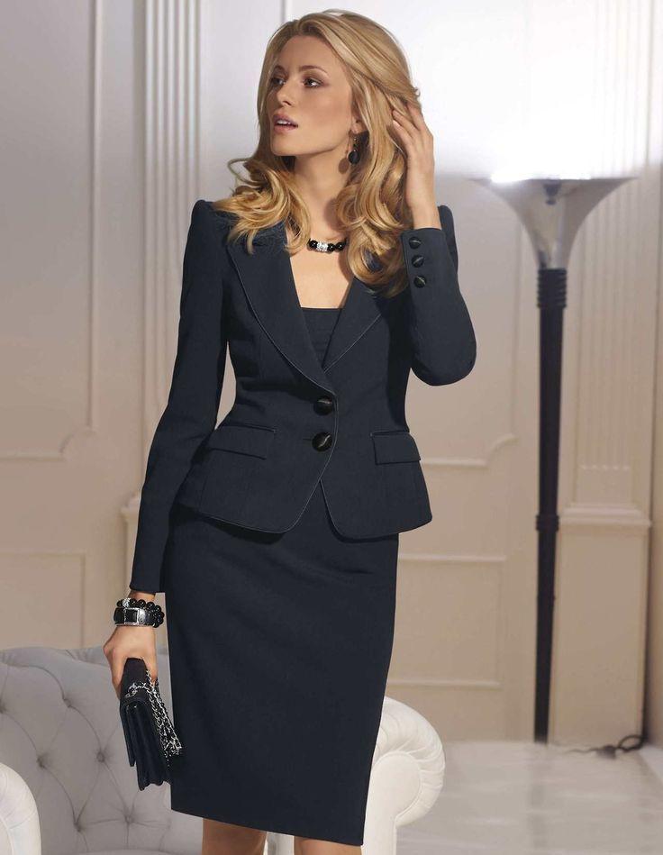 Black dress and jacket suits | My Fashion dresses | Pinterest ...
