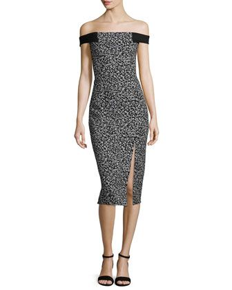 Off-The-Shoulder Sheath Dress, Static Print by Nicholas at Neiman Marcus.