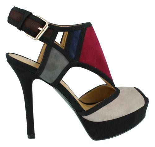 Nine West Founder High Heel Slingback Style Leather Womens Sandal Mid High Heel | eBay