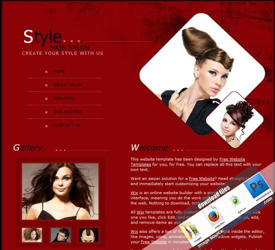 Hairstyle Website Template Free Templates Download Free