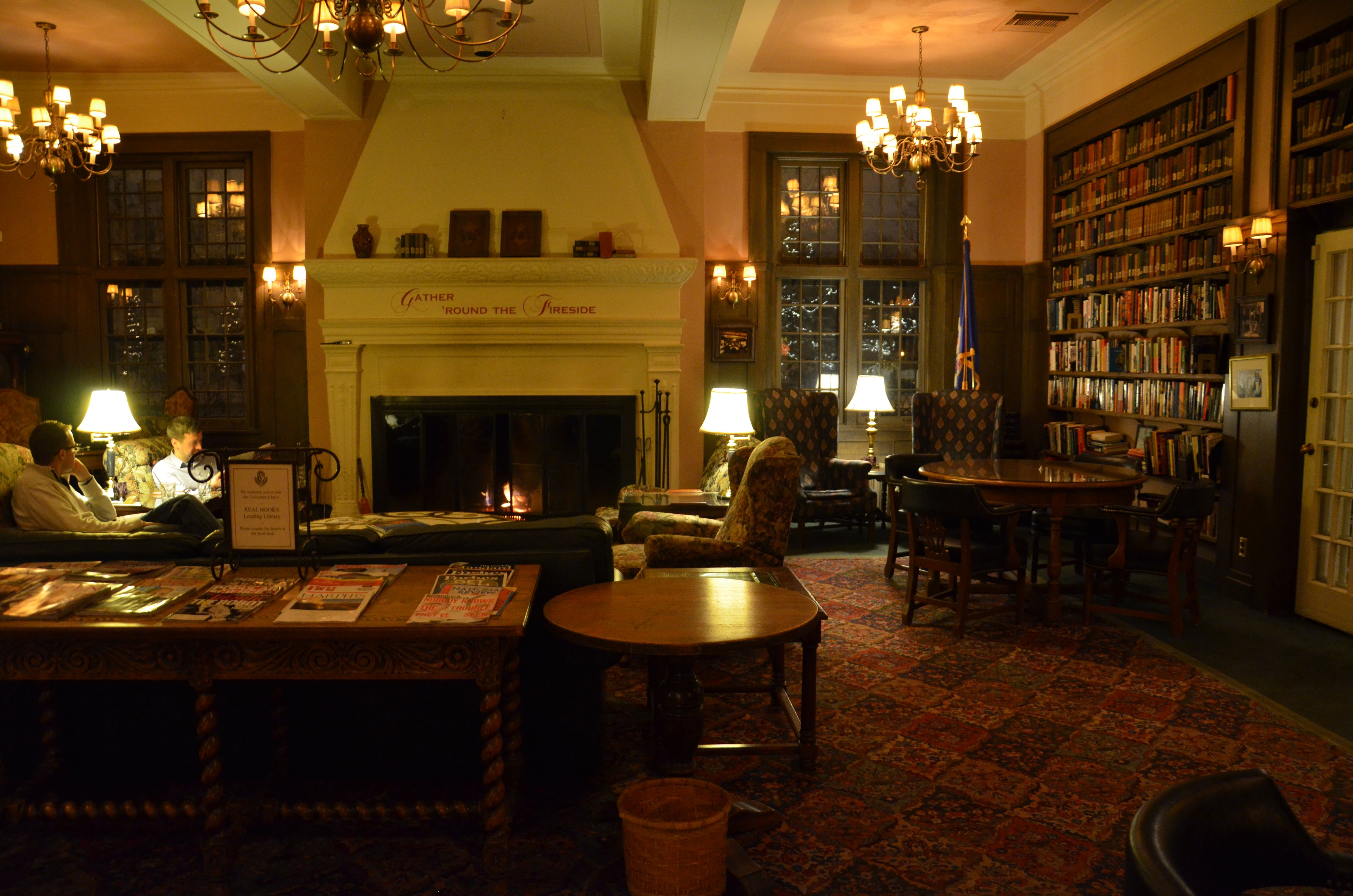 The Fireside Room At University Club In St Paul Minnesota