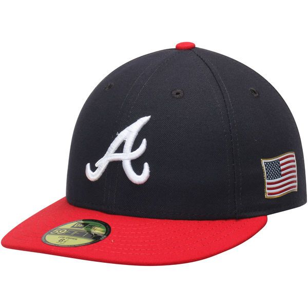 quality design 1659c a90d1 Men s Atlanta Braves New Era Navy Red Authentic Collection On-Field US Flag 59FIFTY  Fitted Hat, Your Price   37.99