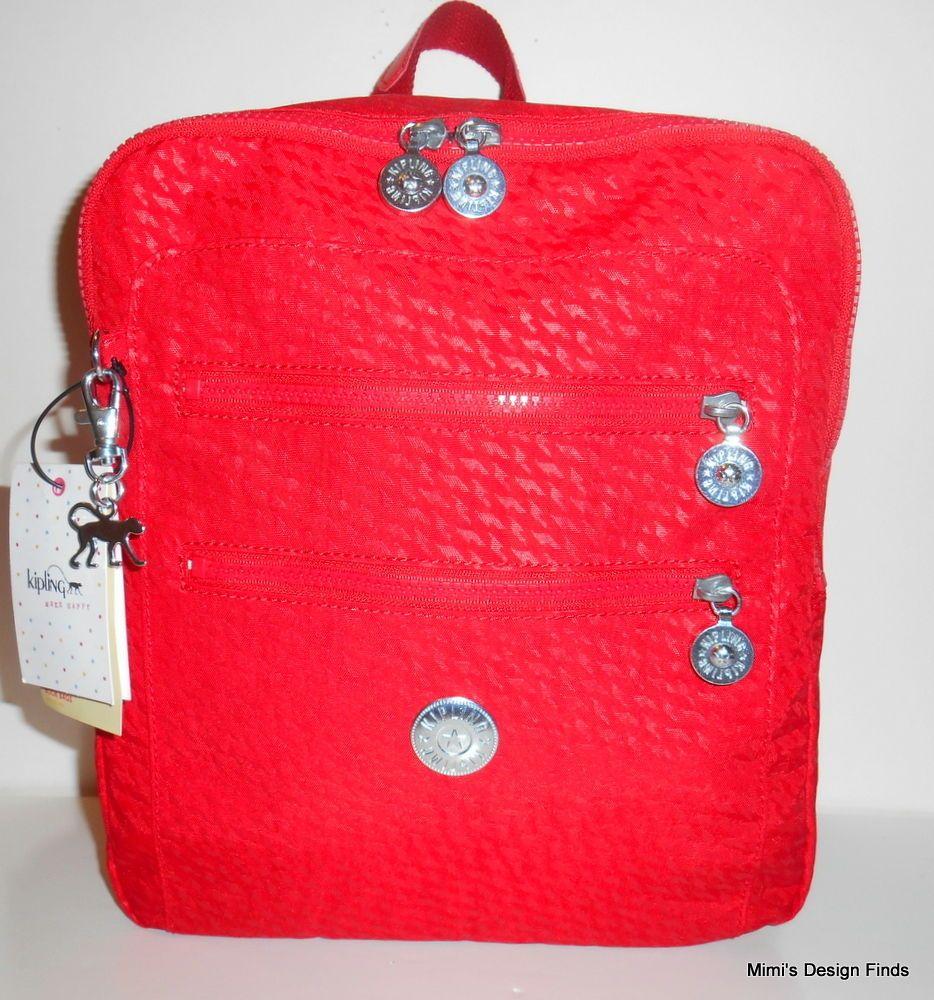 a6eb2ea9cd3 KIPLING Kendall BACKPACK *NEW* Plover Cherry Red Nylon Travel Bag BP4112  NWT #Kipling #Backpack