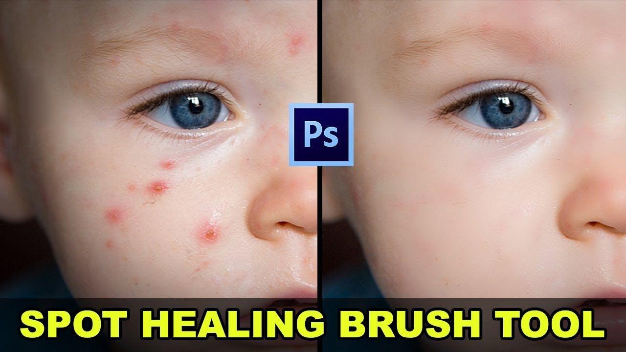 Spot healing brush not working