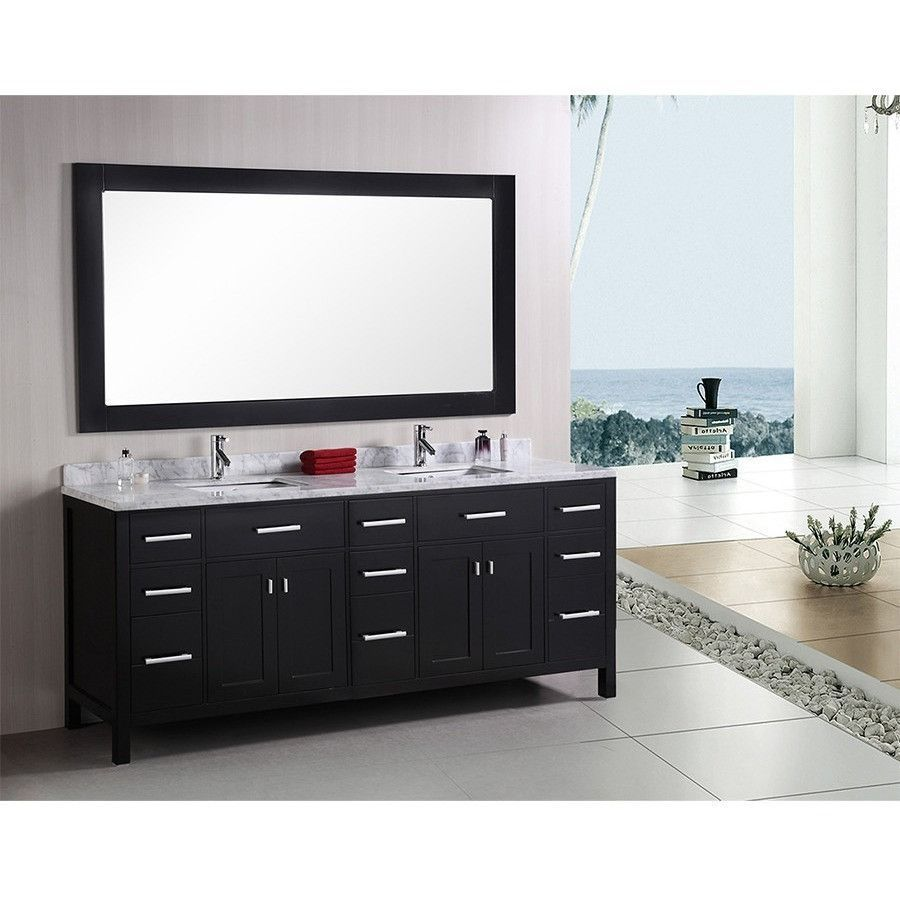 Design Element 78 London Stanmark Double Sink Vanity Set In White