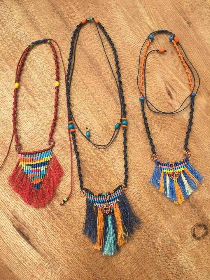 Pin by Lana Kangas on Macrame Necklaces Jewelry, Weaving