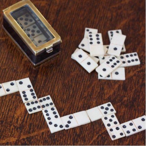 Napoleonic Prisoner Of War Domino Set, Glass Domino Set