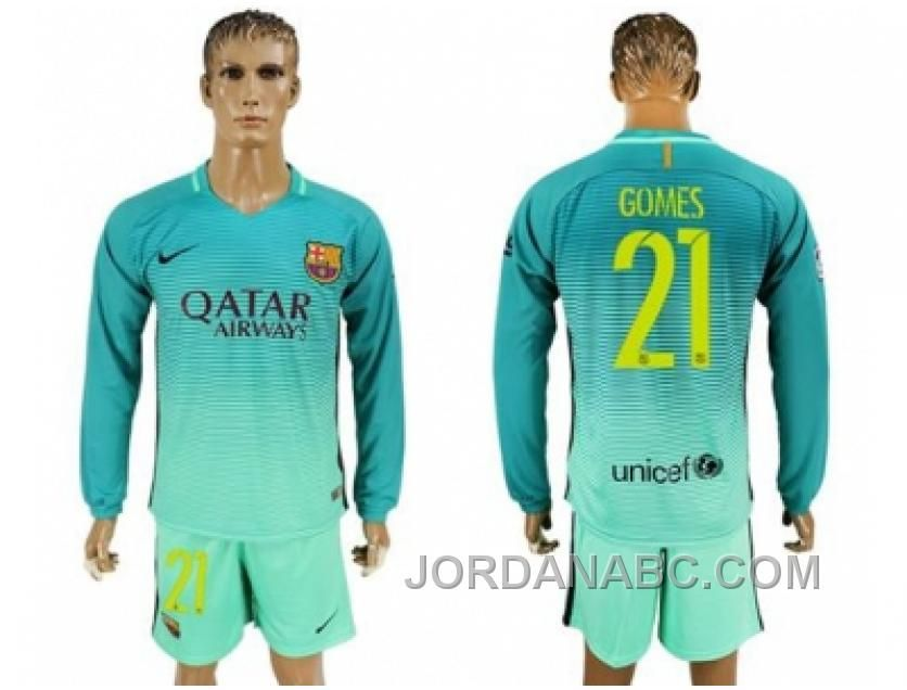 http://www.jordanabc.com/barcelona-21-gomes-sec-away-long-sleeves-soccer-club-jersey-cheap-to-buy.html BARCELONA #21 GOMES SEC AWAY LONG SLEEVES SOCCER CLUB JERSEY CHEAP TO BUY Only $60.00 , Free Shipping!