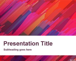 Red Canvas Powerpoint Template Is A Free Ppt Template For