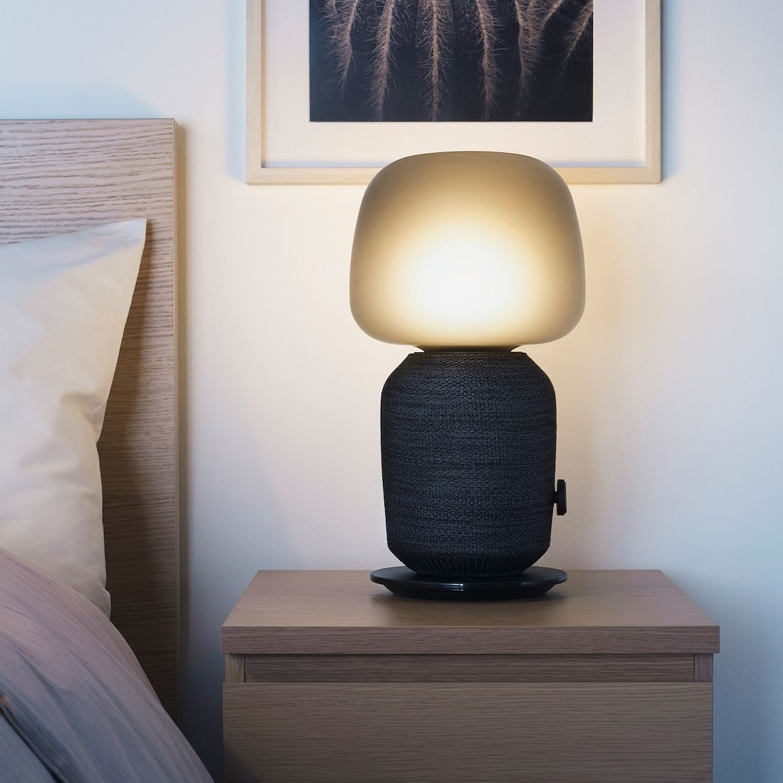 Symfonisk Bordslampa Med Wifi Hogtalare Svart Ikea Table Lamp Wifi Speakers Lamp