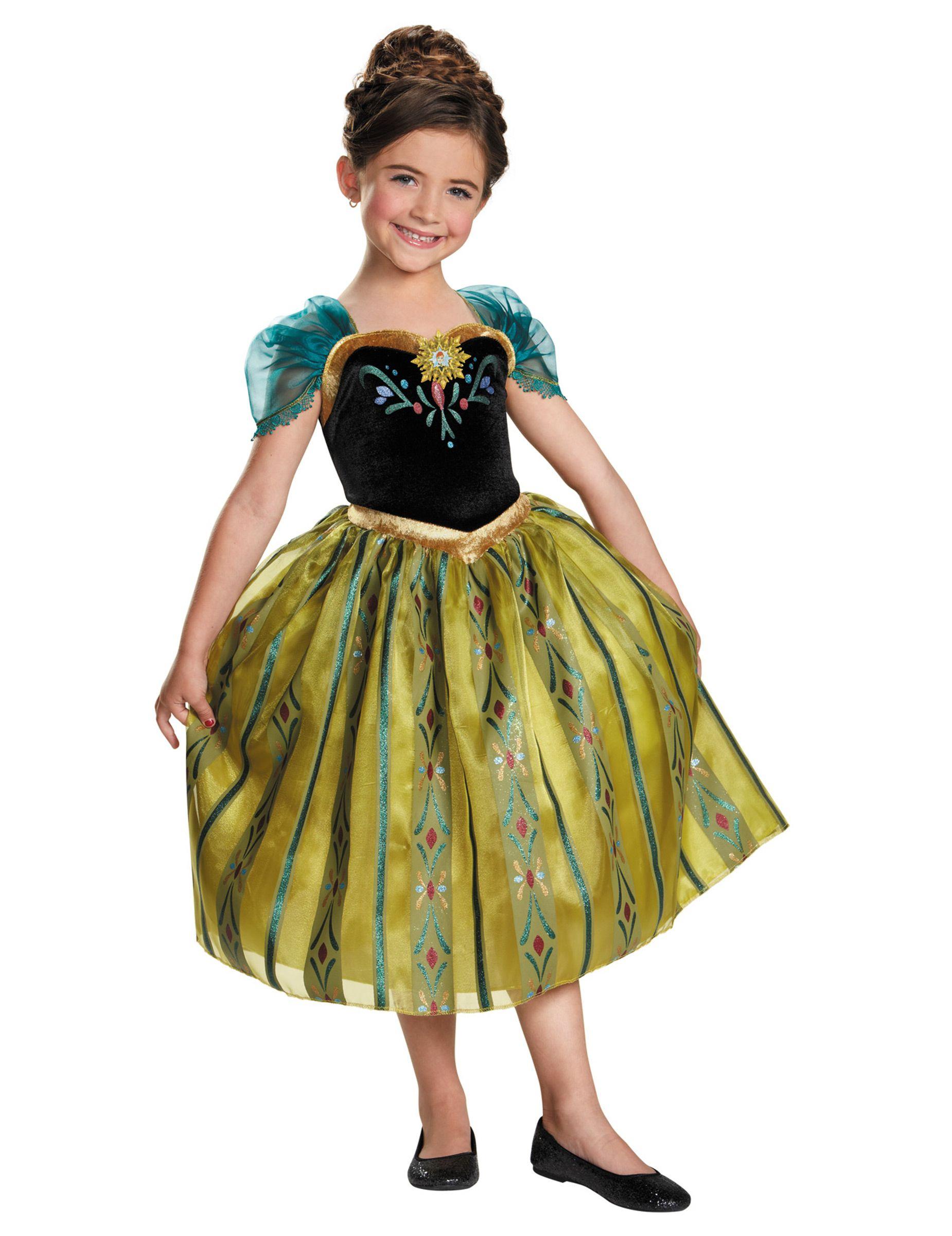 Kostym Snödrottningen Anna™ kröningen flickor 8f22a393973d4