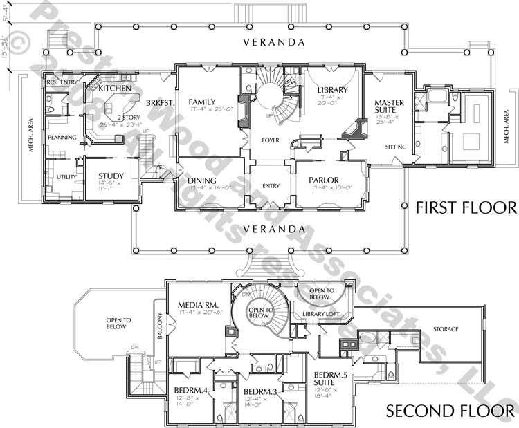 Two Story Home Plan C8001 House Plans Two Story Homes Mansion Floor Plan