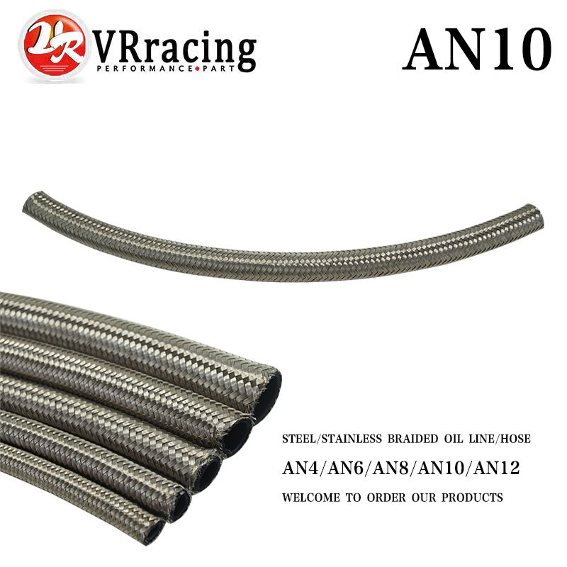 Vr Racing An10 10an An 10 14 2mm 9 16 Id Stainless Steel Braided Racing Hose Fuel Oil Line One Feet 0 3m Vr7114 1 Affiliate Steel Fuel Oil Water Hose