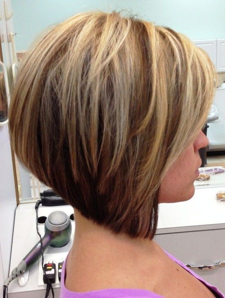 Stacked Inverted Bob Hairstyles Stacked Layered Bob Haircuts