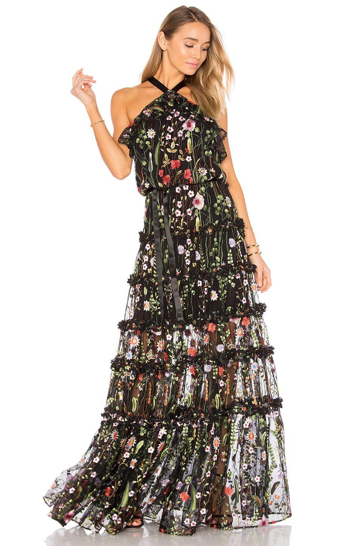 d36c39b58641 Alexis Glory Gown in Black Garden