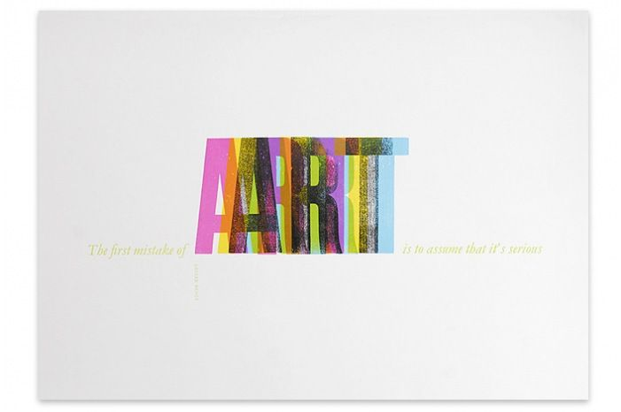 The first mistake of #art is to assume that it's serious :)