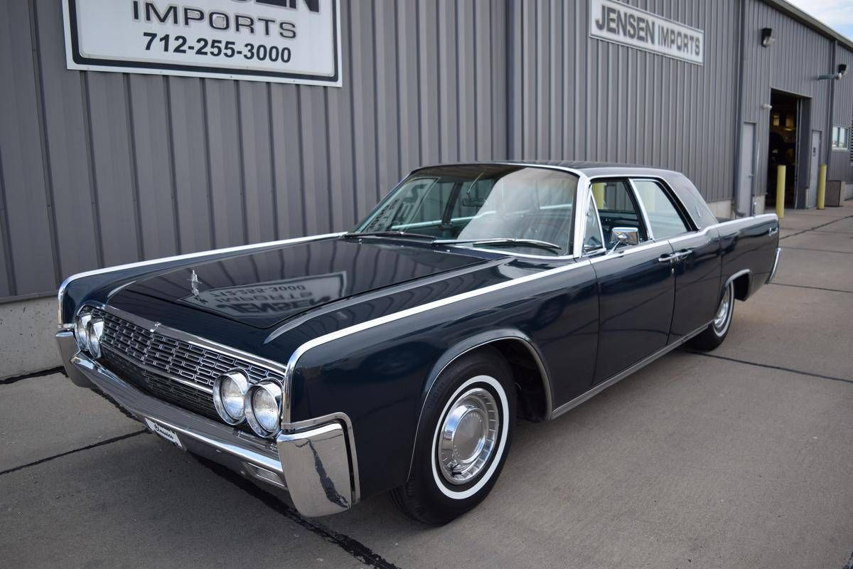 1962 Lincoln Continental In Dark Blue With Blue Leather Interior Lincoln Continental Lincoln Automobile