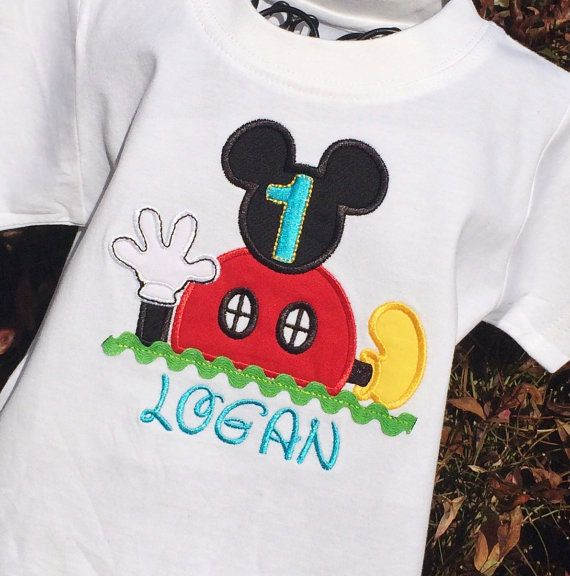 Boys Mickey Mouse Clubhouse Birthday Onesie Or Shirt