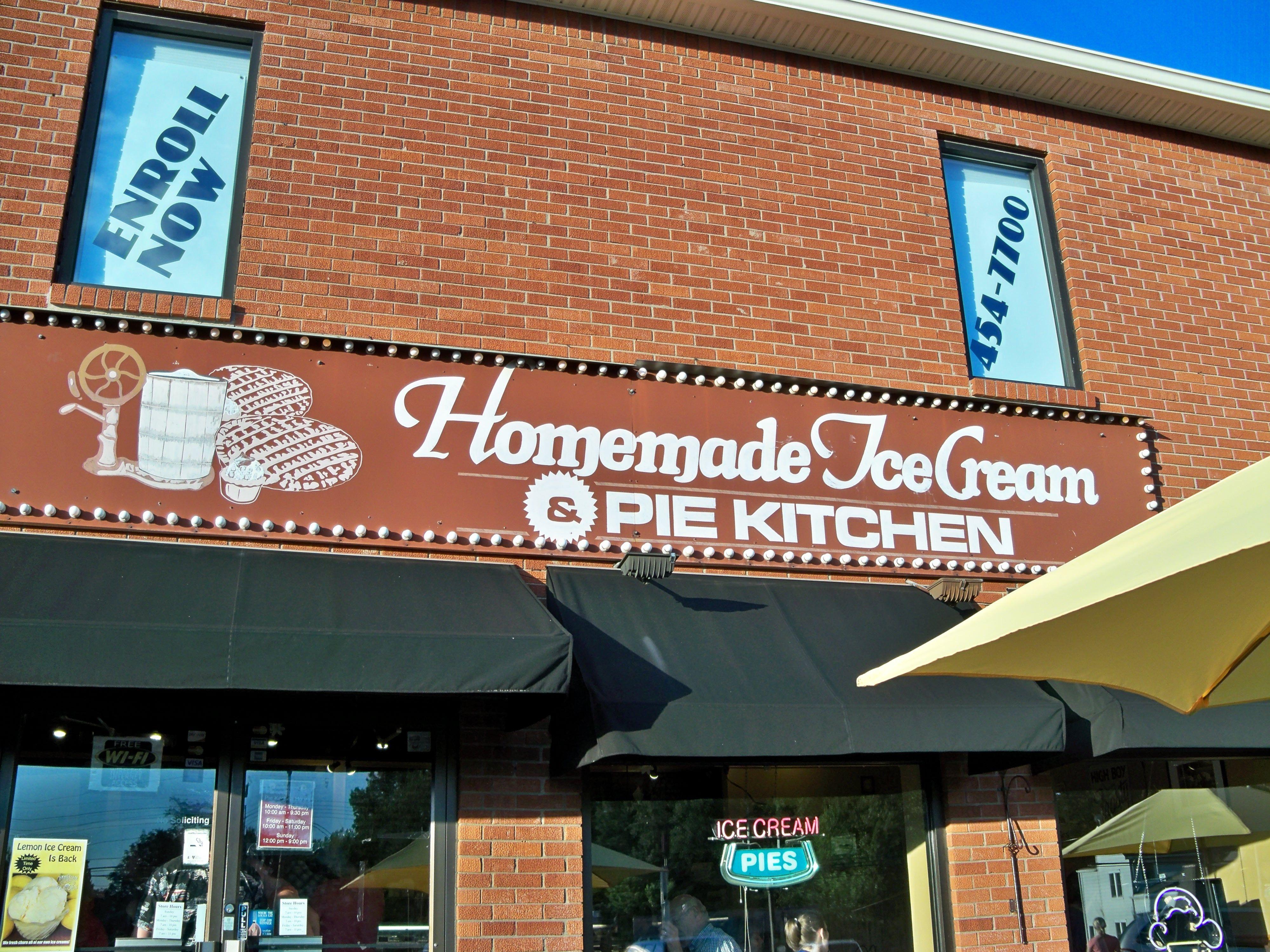 homemade ice cream pie kitchen louisville smurf ice cream and shaker sugar pie yes please - Homemade Pie Kitchen