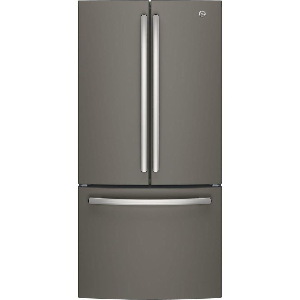 Ge 33 In W 248 Cu Ft French Door Refrigerator In Slate With