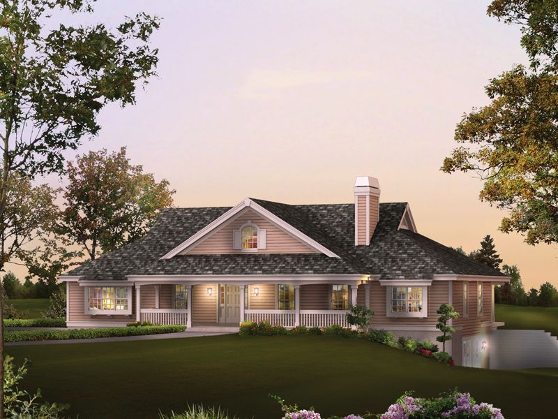 Rochelle Bay Country Home Country Style House Plans Ranch Style House Plans House Plans