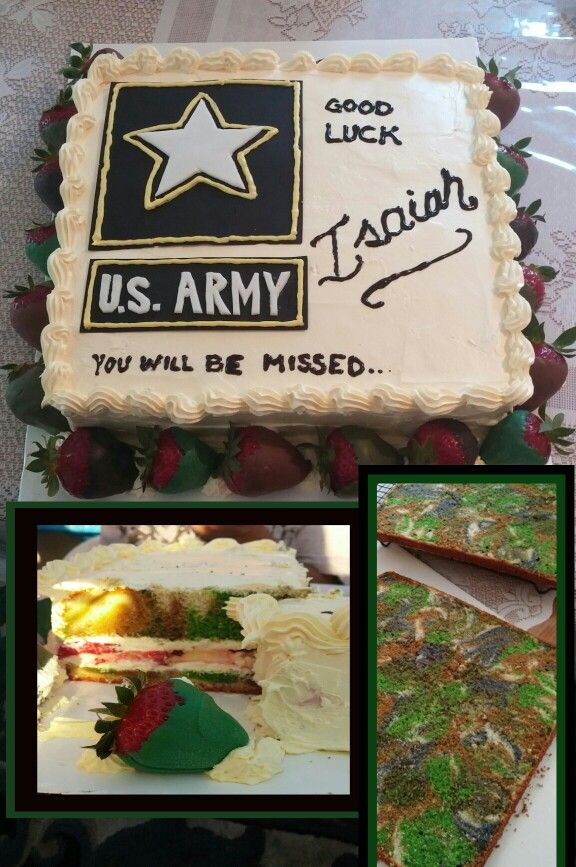 Us Army Farewell Cake With Images Army Party Decorations