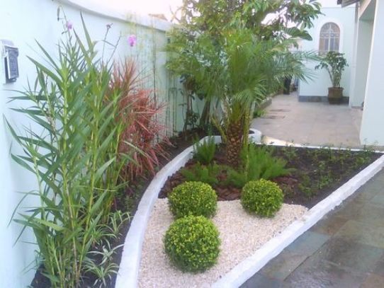 Modelos de jardins residenciais para frente de casa Decoraciones para jardines de casas