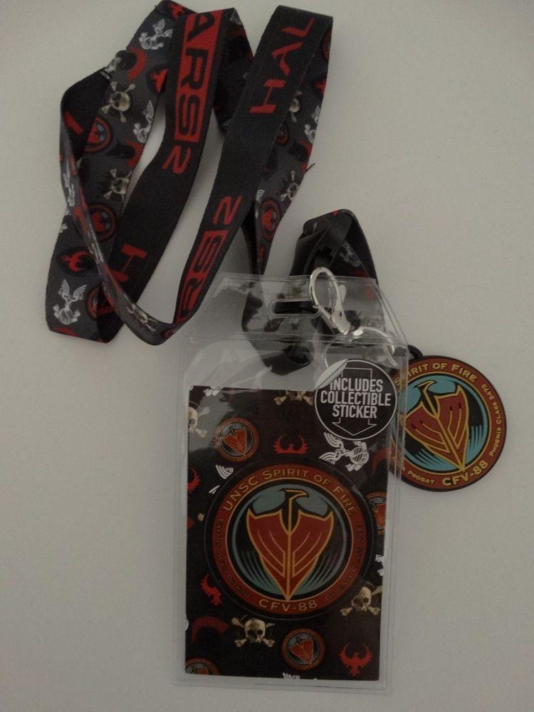 Halo Wars 2 Icon  ID Badge Holder Keychain Lanyard