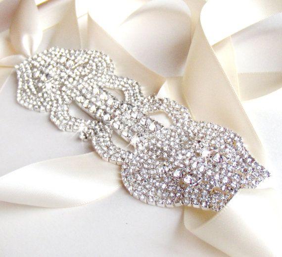 Extra Wide Rhinestone Bridal Belt Sash Custom Ivory By Getnoticed 58 00 Wedding Dress Belt Bridal Belt Rhinestone Wedding Dress