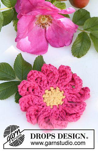 Rosehip Briar Rose Free Pattern Crochet Flowers And Leaves