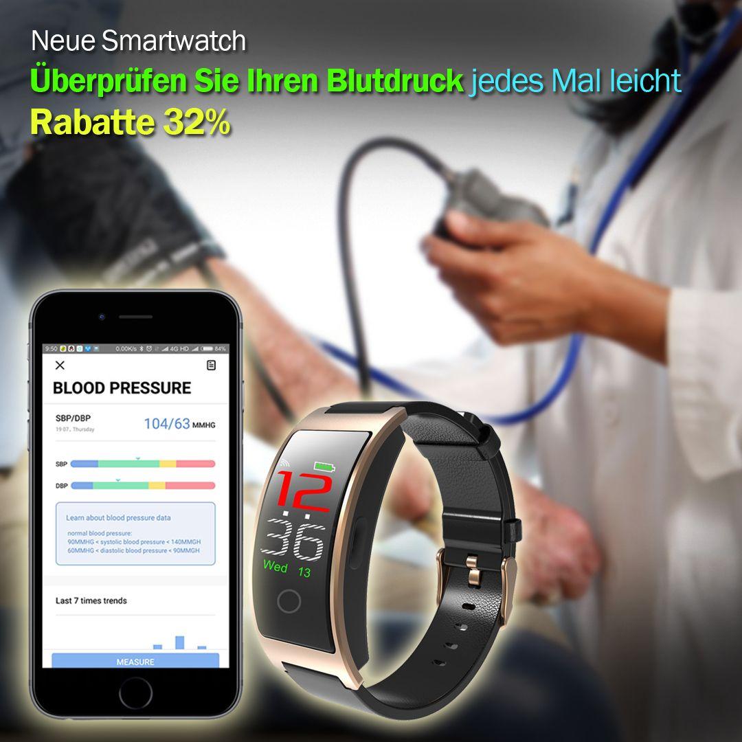 ACTIVITY TRACKER Fitness Armband, Pulsmesser, Blutdrucküberwachung, IPS-Farbbildschirm, Anruf Abgele...