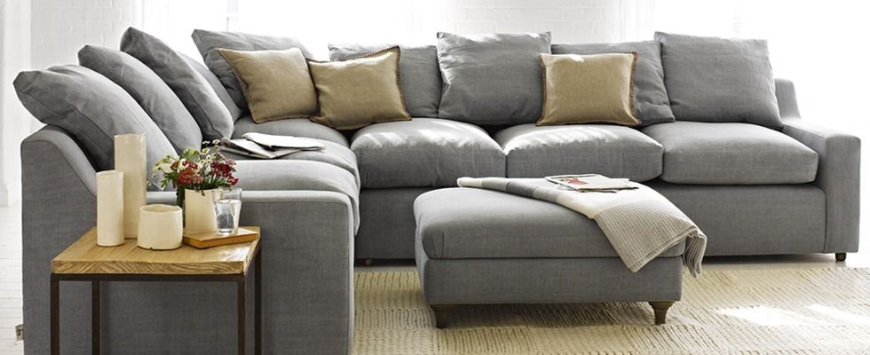 L Shaped Couches: Bring Comfort Into Your Living Room: Grey L Shaped ...