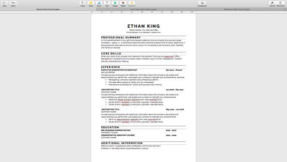 Resume Software Mac Resume Template Professional Resume Template Instant Download Modern .