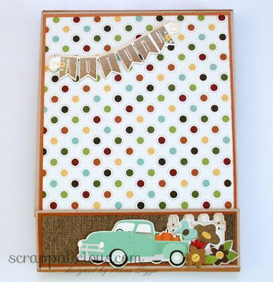 Autumn foto folio using Simple Stories papers and embellishments