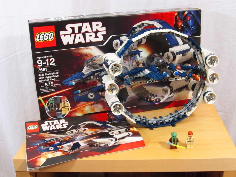 Lego 7661 Jedi Starfighter w/Hyperdrive Ring - 100% Complete w/unused  stickers #LEGO