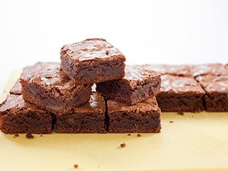 Chewy Brownies from Cook's Illustrated-- homemade goodness as good as the box mix.
