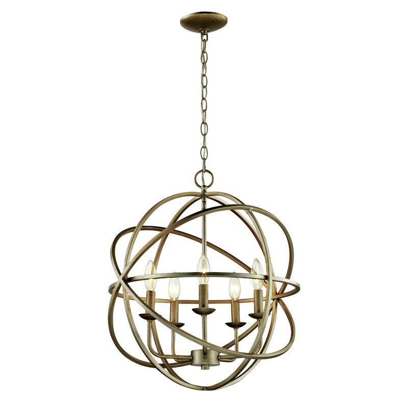 Hankinson 5 Light Candle Style Globe Chandelier & Reviews