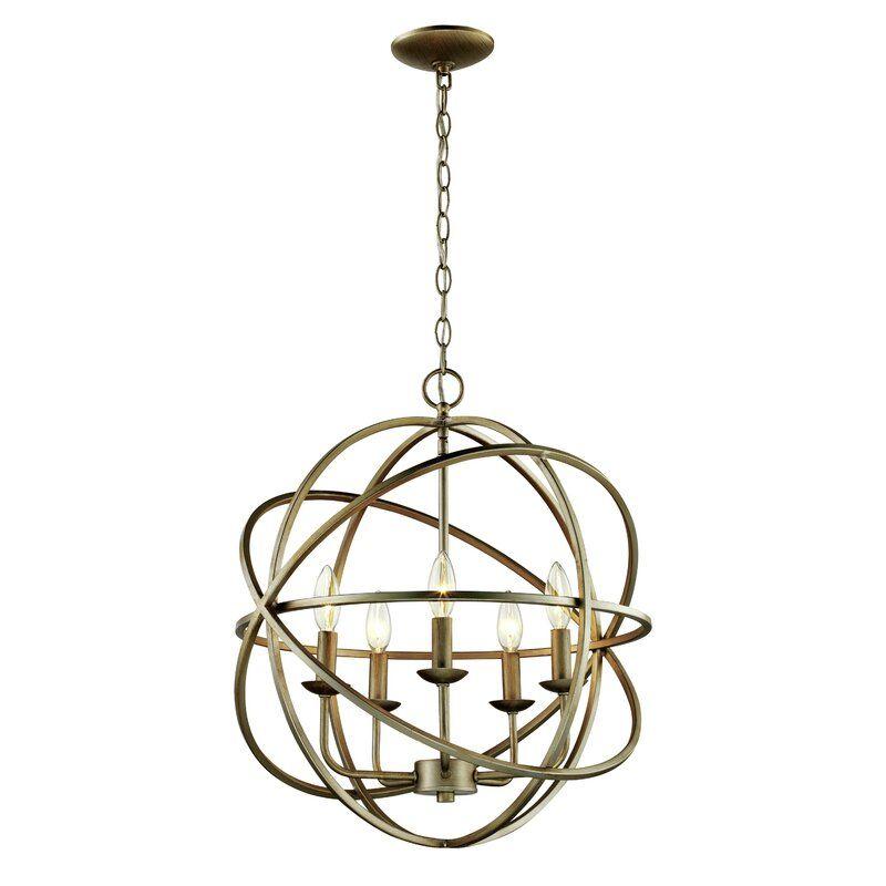 Hankinson 5 Light Unique Globe Chandelier