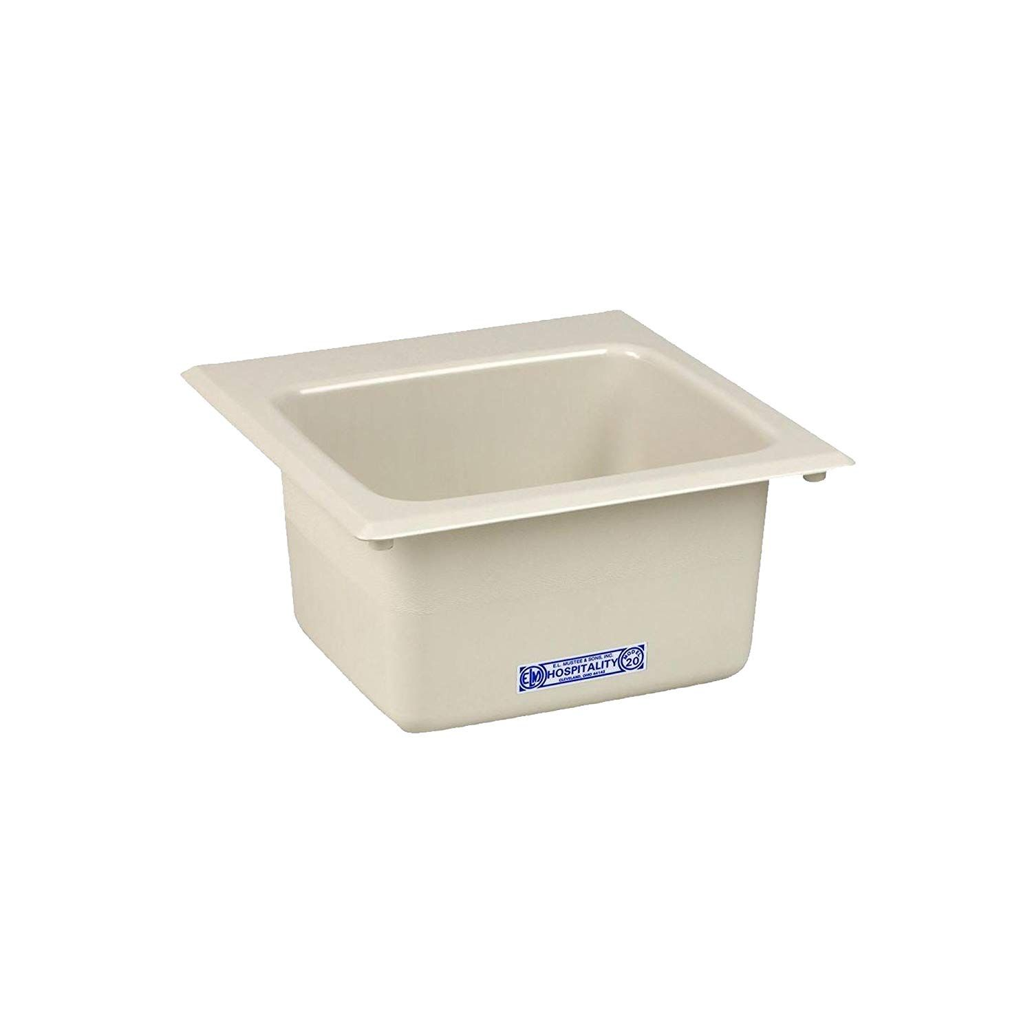 Mustee 23 In X 23 In Thermplastic Wall Mount Laundry Tub 15w