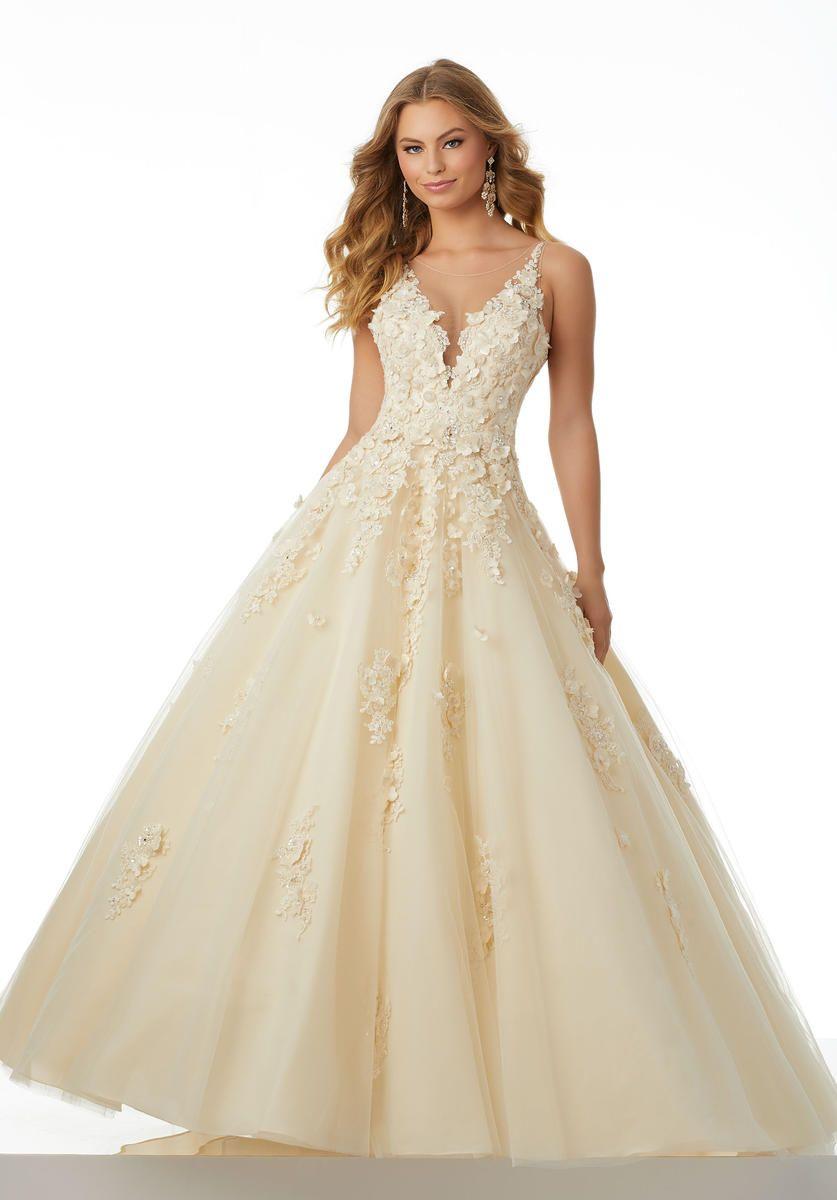 bea22683e8 Morilee Prom 42026 Champagne size 10 in boutique. Bride  N Groom ...