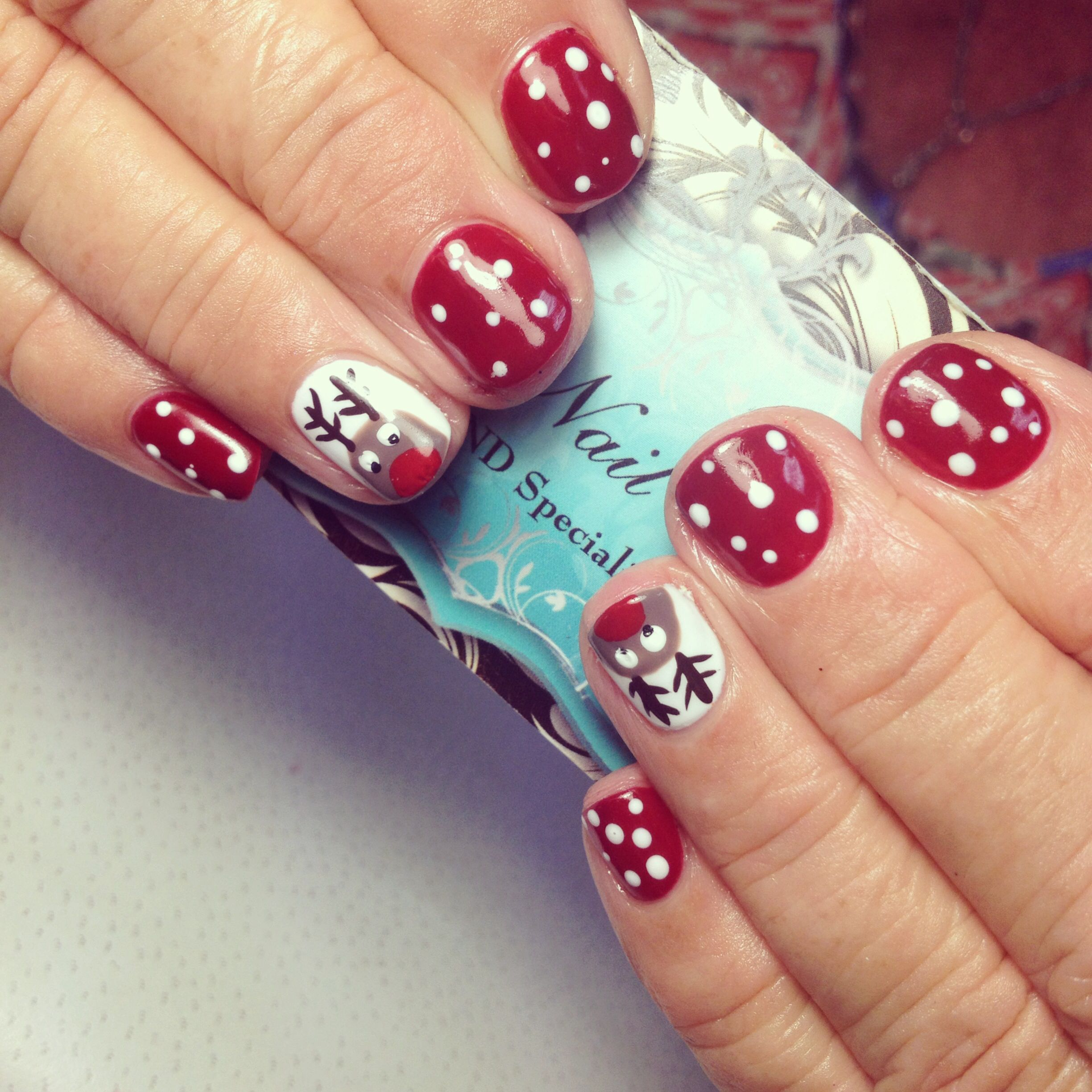 Christmas rudolf shellac nails by dani | Nails I\'ve done at Kaiz ...