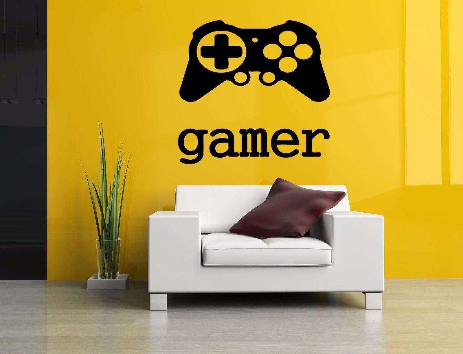 Wall room decor art vinyl sticker mural decal gamer controller big