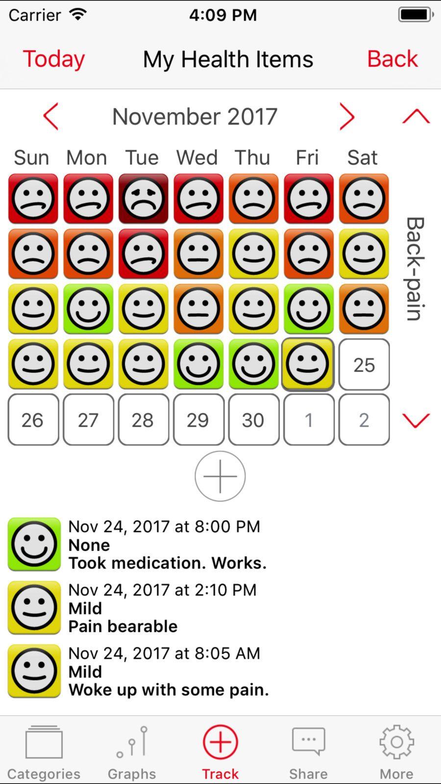 TracknShare LITE LLCAppsMedicalFitness Symptom