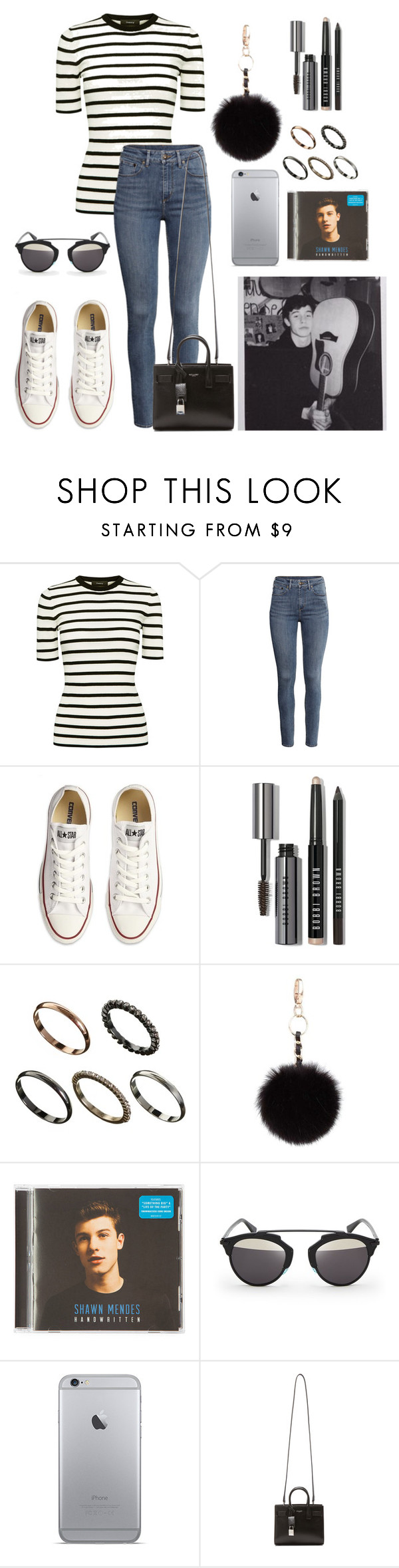 """""""Out with Shawn #2"""" by xxshawnheiz on Polyvore featuring Theory, H&M, Converse, Bobbi Brown Cosmetics, ASOS, Topshop, claire's, Christian Dior e Yves Saint Laurent"""