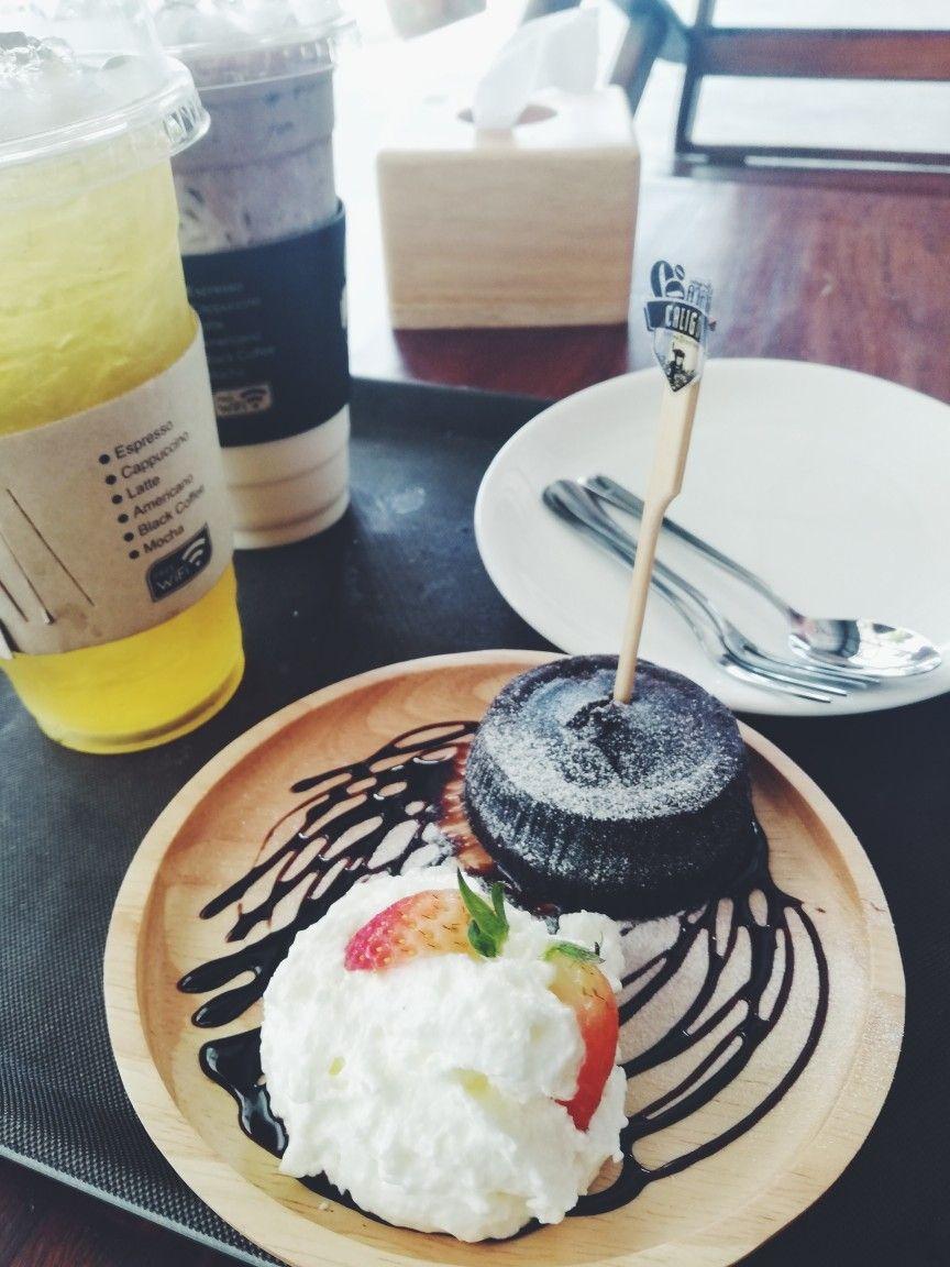 Chocolat lava cake calico coffee factory